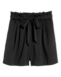H&M - Black Short Shorts - Lyst