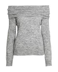 H&M   Gray Off-the-shoulder Jumper   Lyst