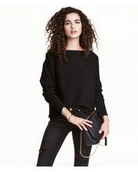H&M | Black Fine-knit Jumper | Lyst