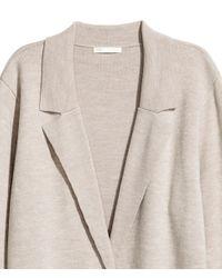 H&M - Natural Cardigan - Lyst