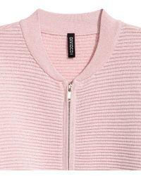 H&M | Pink Glittery Cardigan | Lyst