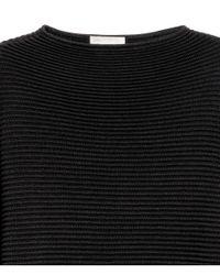 H&M | Black Textured-knit Jumper | Lyst