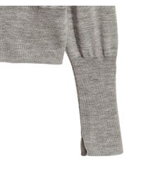 H&M - Gray Cashmere-blend Cardigan - Lyst