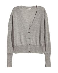 H&M | Gray Cashmere-blend Cardigan | Lyst