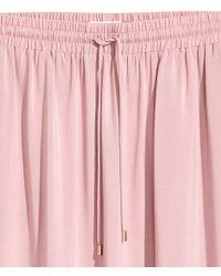 H&M - Pink Long Viscose Skirt - Lyst