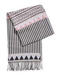 H&M - Gray Jacquard-weave Scarf - Lyst