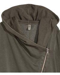H&M | Natural Hooded Sweatshirt Cardigan | Lyst