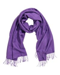 H&M - Purple Woven Scarf - Lyst