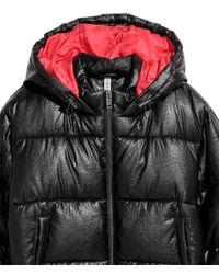H&M - Black Padded Jacket - Lyst