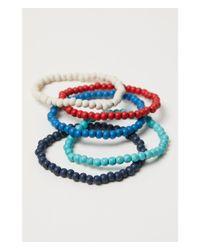 H&M - Blue 5-pack Elastic Bracelets - Lyst