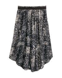 H&M | Black Wide Skirt | Lyst