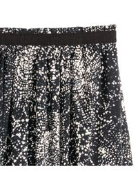 H&M - Black Wide Skirt - Lyst
