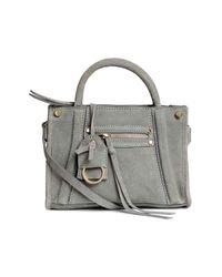 H&M | Gray Suede Shoulder Bag | Lyst