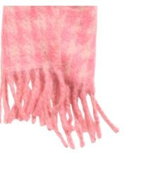 H&M - Pink Jacquard-weave Scarf - Lyst