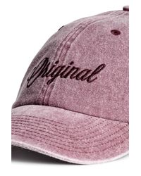 H&M - Pink Cap With Embroidery for Men - Lyst