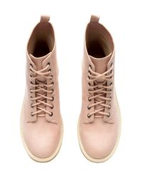 H&M - Pink Ankle Boots - Lyst