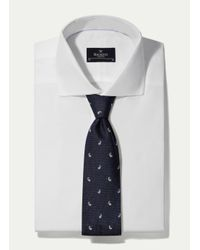 Hackett - Blue Pine Motif Tie for Men - Lyst