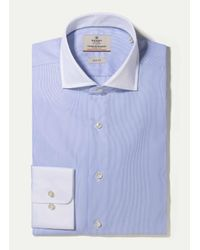 Hackett | Blue The Journey Mini Bengal Shirt for Men | Lyst
