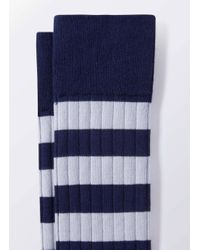 Hackett - Blue Inch Stripe Socks for Men - Lyst