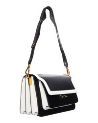 Marni - Trunk Bag In Black/white - Lyst