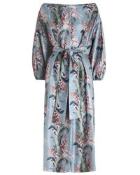 Zimmermann   Blue Winsome Button Down Dress In Sky Floral   Lyst