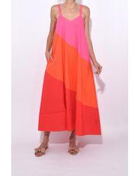 VEDA - Pink Fiesta Dress In Sunrise Trio - Lyst
