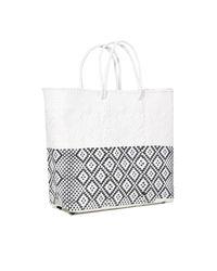 Truss - Medium Tote Bag In White/black - Lyst