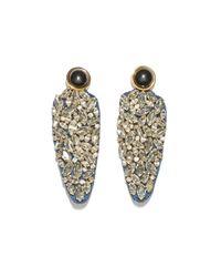 Lizzie Fortunato - Metallic Crystal Dagger Earrings - Lyst