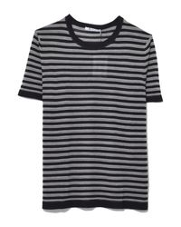 T By Alexander Wang - Wash And Go Stripe Short Sleeve Tee In Black/indigo/white - Lyst
