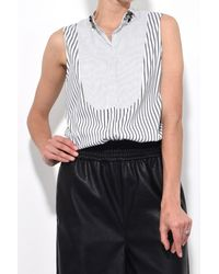 Dorothee Schumacher - Sparks On Stripes Blouse In Pure Black - Lyst