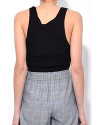 T By Alexander Wang - Wash And Go Rib Tank Top In Black - Lyst