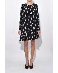 10 Crosby Derek Lam - Asymmetrical Ruffle Hem Dress In Black - Lyst