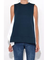 Marni | Sleeveless Sweatshirt In Dark Limoges + Lily White | Lyst