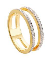 Monica Vinader - Metallic Skinny Double Band Diamond Ring - Lyst