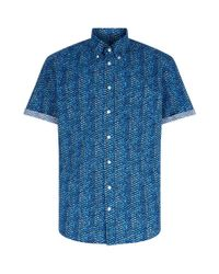 Eton of Sweden | Blue Slim Fit Fish Scale Shirt for Men | Lyst