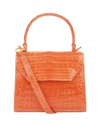 Nancy Gonzalez - Orange Small Crocodile Lily Cross Body Bag - Lyst