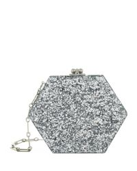Edie Parker - Metallic Macy Hexagon Acrylic Clutch - Lyst