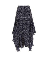 Stella McCartney Black Poppy Printed Midi Skirt