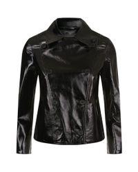 AllSaints - Black Deebee Patent Double-breasted Jacket - Lyst