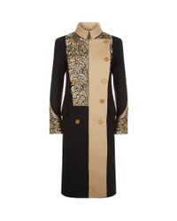 Burberry - Black Oldershaw Embroidered Military Coat - Lyst