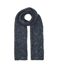 Brunello Cucinelli | Blue Chunky Sequin Embellished Mohair Scarf | Lyst