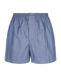 Zimmerli | Blue Honeycomb Print Boxer Shorts for Men | Lyst