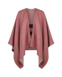 Burberry - Pink Reversible Merino Wool Poncho - Lyst
