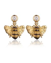 Theo Fennell - Metallic Bee Drop Earrings - Lyst