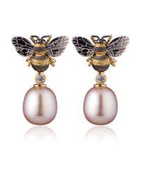 Theo Fennell | Metallic Bee Drop Earrings | Lyst