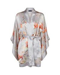 Meng - Multicolor Short Silk Kimono - Lyst