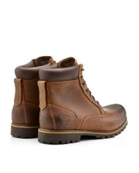 Timberland - Brown Rugged Waterproof Plain Toe Boot for Men - Lyst