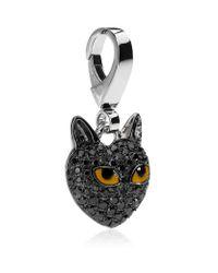 Theo Fennell | Metallic Black Cat Charm | Lyst