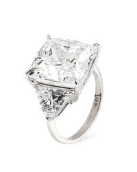 Carat* | Metallic Cushion Cut Trilogy Ring | Lyst