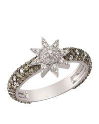 Bee Goddess - Brown Venus Star Diamond Ring - Lyst